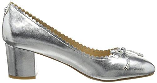 Dorothy Perkins - Devine Scallop, Scarpe col Tacco Donna Argento (Metallic)