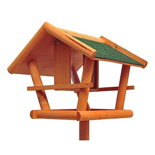 PawHut D10-001 Vogel / Futterhaus Kanarien Ständer Holz mit Dach, natur - 5