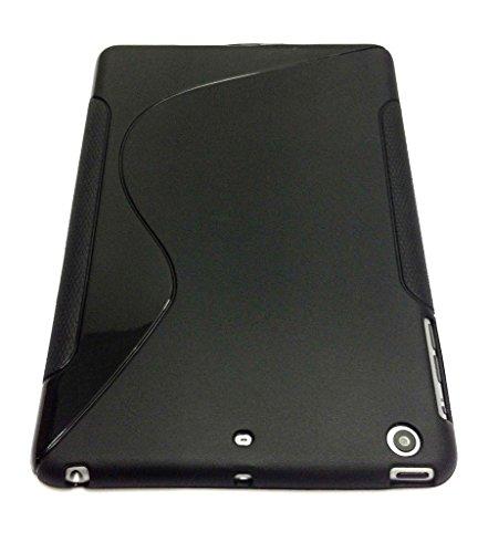 Noir S Line Wave Coque arrière en gel TPU souple pour Apple iPad 2