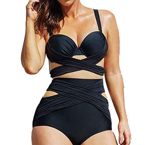 2305cc456701 Worsworthy Bikini Donna Foglie Costume Due Pezzi Costumi Interi Donna Mare  Push Up Verdissima Bikini Tankini