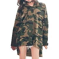 Lose Rot/ArmeeGrün Camouflage Drawstring Hoodie Für Teenager Coole Volle Hülse Pullover Mode Unregelmäßigen Saum Kleid Lässig New Look