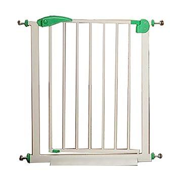 Hyzb Barrière De Sécurité Porte Porte Chien Garde-Corps Rampe D'escalier Clôture pour Isolement en Métal pour Chien Chat Chat en Métal - Longueur 65-72cm, Hauteur 76cm (Couleur : Vert)