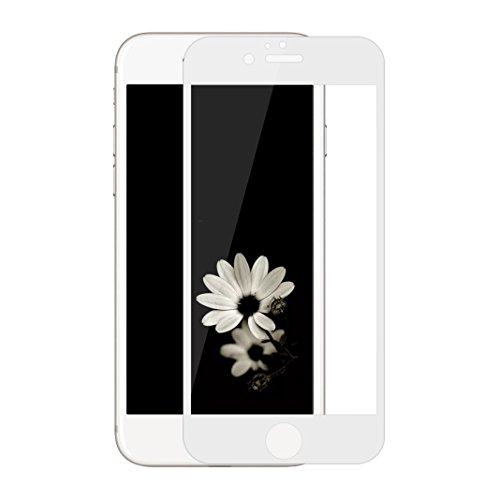 Film Vitre de Protecteur écran Pour iPhone 7 Plus / 8 Plus, Protection Verre Trempé Ultra Slim, Porcelaine Plein écran, Facile à Poser, Ultra Clair Haute Transparence et Ultra Résistant, Blanc