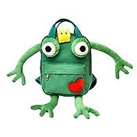 Baby Cartoon Backpacks,URMAGIC Toddler Baby Girls Boys Cartoon Frog Kindergarten School Bags 3D Animals Backpack for Primary School Bags Kids School Bags