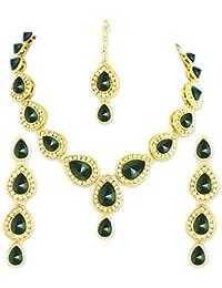 8ec850ec908ea Sea Green & Blue Kundan Jewellery Set Best Deals With Price ...
