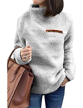 Dazosue Jersey De Lana De Cuello Alto Básico Cálido Suéters para Mujer