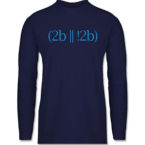 Programmierer - To be or not to be - Longsleeve / langärmeliges T-Shirt für Herren Navy Blau