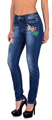 Jean femme skinny pantalon en jean vintage rétro fleur brodé jeans femmes J302 J321