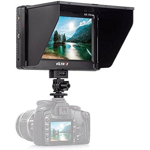 Viltrox Schermo LCD da 7 pollici mini monitor con cavo HDMI, Parasole Hood, scarpe standard, per Canon EOS 5D 7D Mark II III 6D 30D 40D 50D 550D 1200D 70D 700D 100D 650D 60D 600D 1100D 1000D 500D