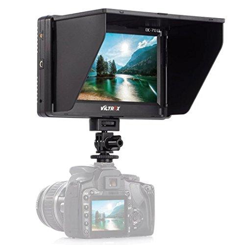 Preisvergleich Produktbild Viltrox 7 Zoll HD LED Monitor Kamera Feldmonitor HDMI Audio Video DSLR mit HDMI Kabel Sonnensegel Hood Standard Schuh für Canon EOS 5D 7D Mark II III 6D 30D 40D 50D 550D 1200D 70D 700D 100D 650D 60D 600D 1100D 1000D 500D