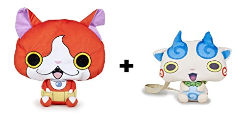 Yokai Watch - Pack 2 peluches Jibanyan (rojo 25cm) +...