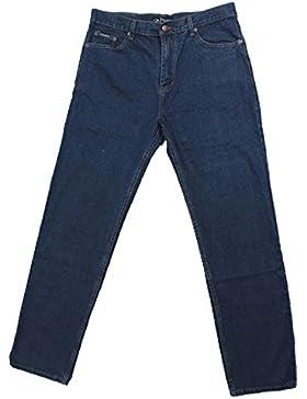Jeans uomo classico vita alta normale 46 48 50 52 54 56 58 60 62 64 pantalone 5 tasche regular fit larghi in fondo
