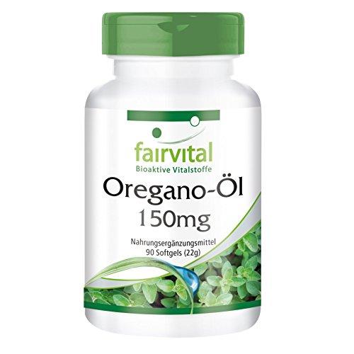 Oregano-Öl 150mg - GROSSPACKUNG Origanum vulgare Extrakt - 90 Softgels - 10-fach konzentriert