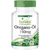 Oregano-Öl 150mg - GROSSPACKUNG für 3 Monate - Origanum vulgare Extrakt - 90 Softgels - 10-fach konzentriert preisvergleich bei billige-tabletten.eu