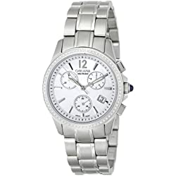 Golana Aura Pro Swiss Made Ladies Diamond Set Chronograph Watch AU200.5