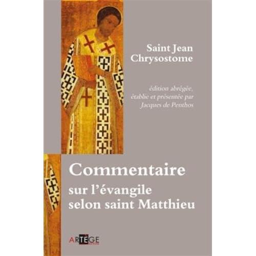 Commentaire sur l'évangile selon saint Matthieu