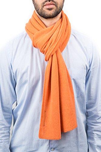 DALLE PIANE CASHMERE - Schal aus 100% Kaschmir - für Mann/Frau, Farbe: Orange, Einheitsgröße -