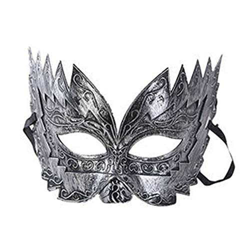 Tianzhiyi Geburtstagsdekoration Retro Maskerade Augenmaske, Imitation Metall Roman Gladiator Maske für Halloween Party Kostüm Cosplay Kostüm Requisiten Karneval Prom Ball (Color : S)