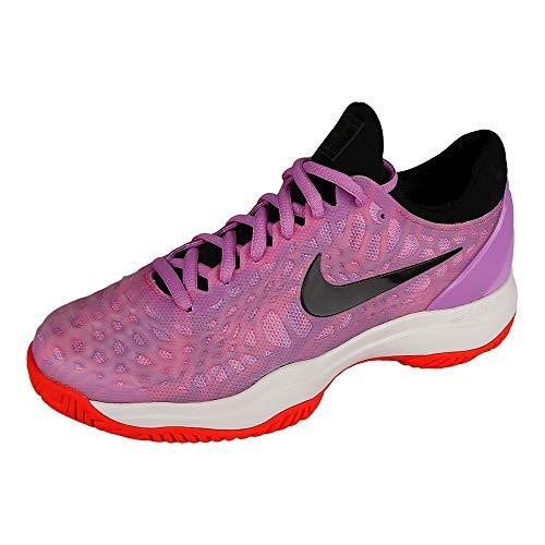 Nike Wmns Air Zoom Cage 3 HC, Scarpe da Tennis Donna, Multicolore (Purple Agate/Black/White/Hyper Crimson 500), 44 EU