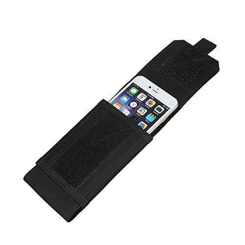 xhorizon TM MSH Armée Camo Sac Mobile Universel de téléphone portable Organiseur accessoires Housse Etui Coque Cover Case Sacoche de ceinture pour iPhone Samsung tactique MOLLE avec drapeau français #I