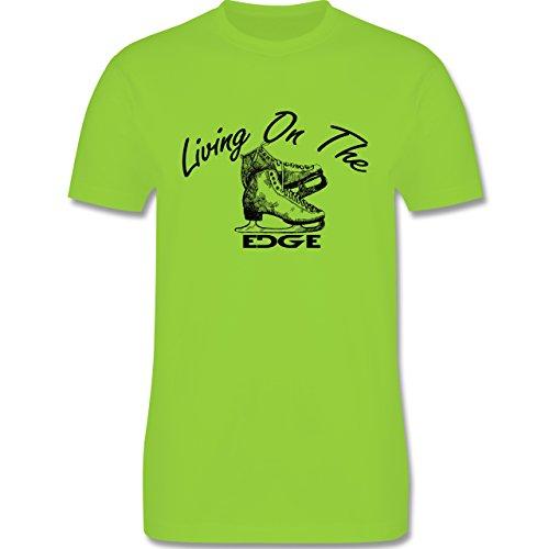 Wintersport - Living On The Edge - Herren Premium T-Shirt Hellgrün