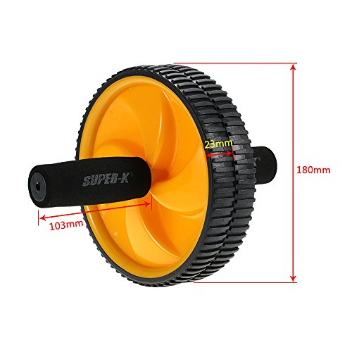 41e9GLHEdfL. SS500  - Lixada Dual Abdominal Ab Core Roller Wheel for Gym Abdominal Exercise Fitness Equipment