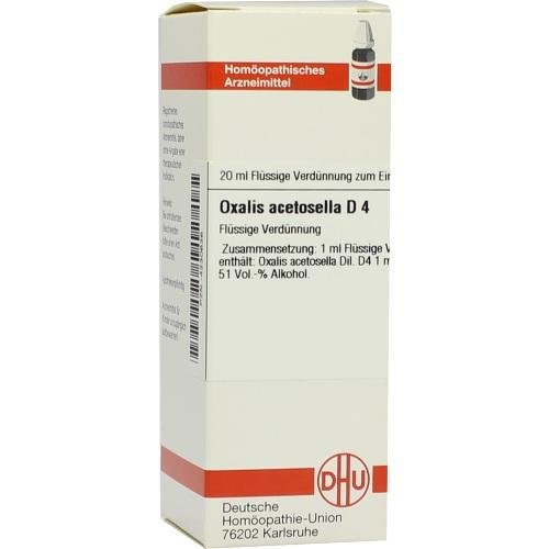 Oxalis Acetosella D 4 Dil 20 ml