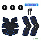 EMS Muscle Stimulator,Abdominal Muscle Toner Abs Trainer Fitness Training Gear ABS Fit Weight Muscle Training with 6 Modes & 10 Intensities