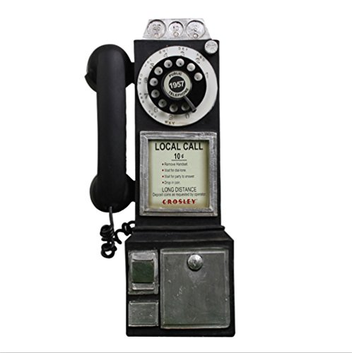 BKPH Retro Cabina teléfono Modelo Resina artesanía