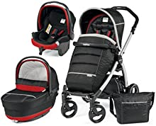 Cochecito Combi [babyschale + cochecito + Sportwagen] portatil Plus Pop Up Peg Perego Synergy