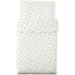 Ikea Stjärnbild avec Housse de Couette/taie d'oreiller (110x 125/35x 55cm) pour lit de bébé, Multicolore