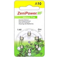 ZeniPower Mercury Free Hearing Aid Batteries Size 10