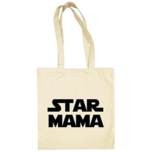 Bolsa de tela Star Mama madre friki Star Wars - Beige, 38 x 42 cm