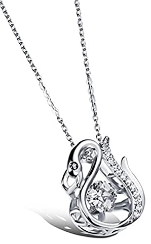 SaySure - Gold/Platinum Plated Swan Crystal Pendant Sexy Necklace