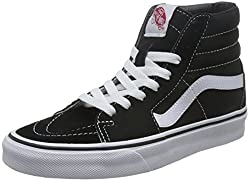 Vans Sk8-hi Classic Unisex-adults Hi Top Lace-up Sneaker, Black (Blackwhite), 3.5 Uk (36 Eu)
