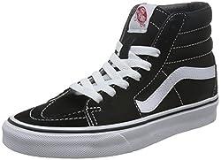 Vans Sk8-hi Classic Unisex-adults Hi Top Lace-up Sneaker, Black (Blackwhite), 3.5 Uk (36 Eu)