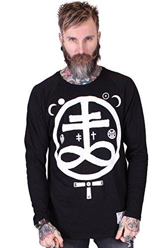 Bear Knuckle Brawlers Designer Lange Ärmel Tee shirt für Männer Devil Schwarz XL (AV112) (Alchemy Kleidung Gothic)