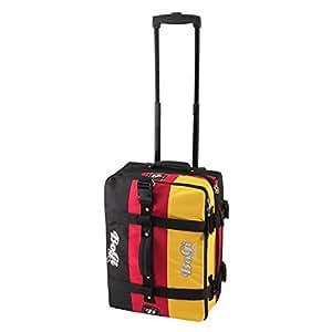 BoGi Bag Reisetasche 40L Rollkoffer Reisekoffer Deutschland Schwarz/Rot/Gold