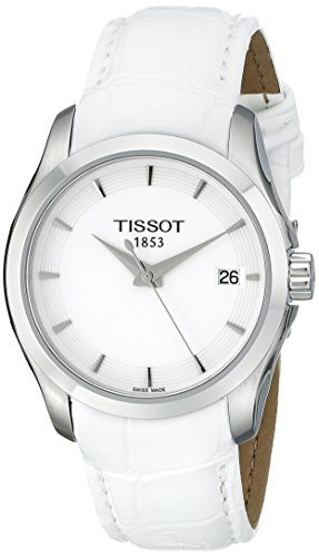 Tissot Women's T0352101601100 Couturier Analog Display Swiss Quartz White Watch