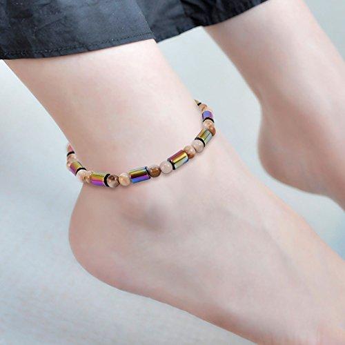 ECMQS Magnetfeldtherapie Fußkettchen, Gesunde Gewichtsabnahme Ankle Armband Für Frauen Männer Schmuck Neue (06#) -