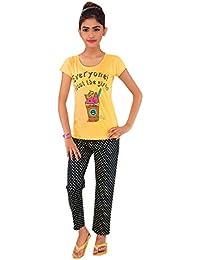 Kid's Care Night wear - Track Suits - Pyjama Tshirt Casual wear Combo Set Kids/Girls-Cotton Material- Half Sleeve - Kids Wear - Track Pant tshirt3(1048-N)