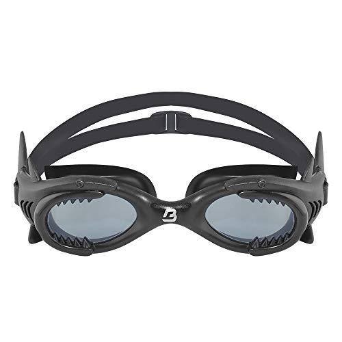 Barracuda Junior Swim Goggle Shark - One-Piece Frame Soft Seals, Easy Adjusting Comfortable Quick Fit No Leaking for Kids Children Ages 4-12 (13020) (Black) -