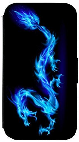 Kuna Flip Cover für Apple iPhone 5 / 5s Design K134 Zebra Hülle aus Kunst-Leder Handy Tasche Etui mit Kreditkartenfächern Schutzhülle Case Wallet Buchflip Rückseite Schwarz Vorderseite Bedruckt mit Bi K130