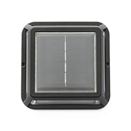 YSSY Solar-Boden-Licht, LED-Haupttreppenstufe Balkonboden Fuß Wandleuchte, IP65 wasserdichter Outdoor-Straße Auffahrt Dock Pfad Solarbodeneinbauleuchte