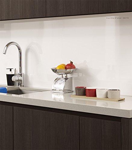 panel de cocina para pared sobre encimera xx mm blanco brillo