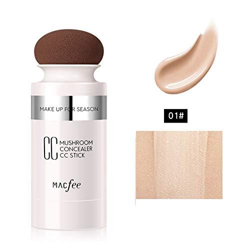 Concealer CC Creme Stick Feuchtigkeitsspendende Wasserfeste Gesichtsmaske Concealer Air Cushion Cream Full Coverage Finish Cremes (Aufhellung A1) - Kno-finish