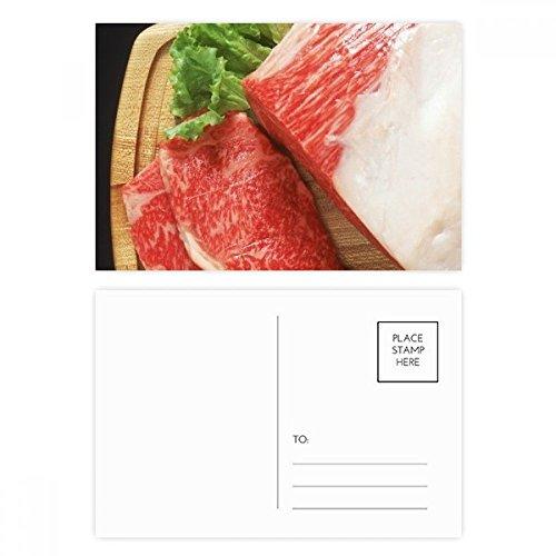 DIYthinker Lammkeule rohes Fleisch Essen Textur Postkartenset Geburtstag dankt Karte Mailing Side...