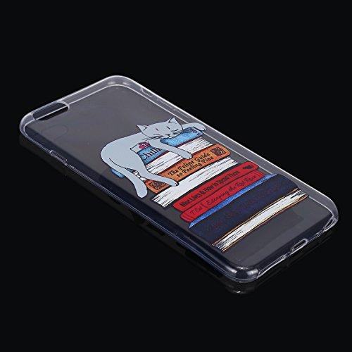 Custodia iPhone 6S Plus Brillantini,Cover iPhone 6 Plus Cover Rigida,Felfy Silicone Case Ultra Slim Sottile Morbida Transparent TPU Gel Cover Case Shock-Absorption Anti-Scratch Custodia Protettiva Cry Gatto