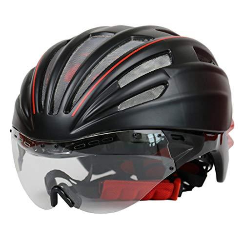 OLEEKA Männer Frauen Fahrradhelm mit Schutzbrillen, MTB Sport Protect Sicherheitsfahrradhelm, Schwarz/Blau/Grün/Rot-Sturzhelm - Frauen-ski-schutzbrillen Grün