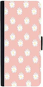 Snoogg Pink Flower Designer Protective Flip Case Cover For Samsung Galaxy A7